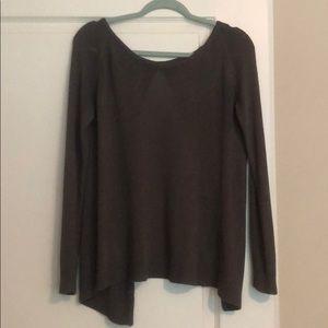 100% cotton backless lightweight sweater